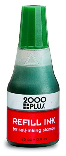 Cosco 090678 Premium Self-Inking Stamp Ink Refill, Easy to use Drip Applicator, Green