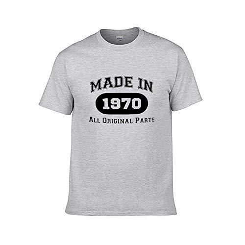 Männer Mode gedruckt - 50. Geburtstagsgeschenk T-Shirt gemacht weißes Hemd Vintage 1970 T-Shirt 2XL