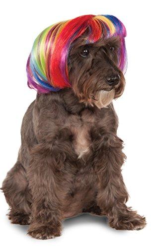 Rubie's Rainbow Bob Wig for Pet, Small/Medium, Multicolor