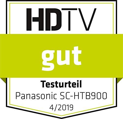 Panasonic SC-HTB900EGK 3.1 Soundbar System mit Dolby Atmos (Wireless Subwoofer, Google Chromecast Audio, 4K Soundbar, 505 Watt RMS) schwarz
