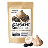 Schwarzer Knoblauch aus Spanien, 2 große Knollen Fermentierter Knoblauch, Black Garlic, 90 Tage fermentiert