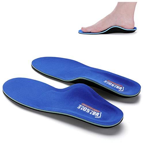 VALSOLE Plantillas Ortopédicas soportes de arco y talones la absorción de choque- para el dolor de talón, pie plano, Fascitis Plantar, dolor de rodilla y espalda (41-42 EU (270mm), blue-v7c)