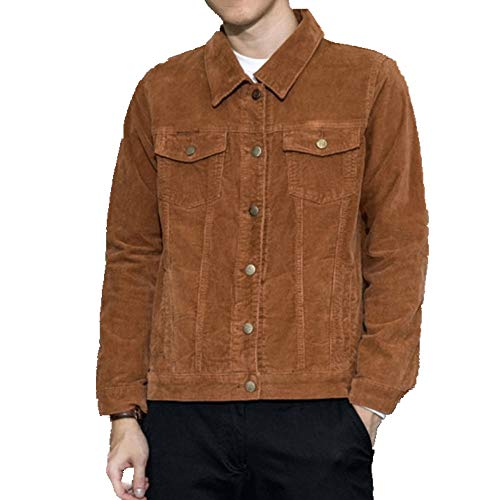 Chaqueta de pana delgada para hombre chaqueta de pana abrigo de los hombres casual denim chaqueta de trabajo