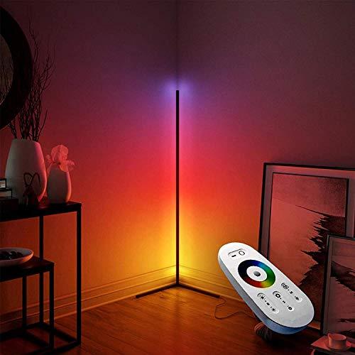 Lampara de pie ,RGB Regulable lampara de pie Lámpara De Pie De Esquina Led Regulable Con Control Remoto |55 Pulgadas De Pie RGB Color Cambio De Luz Para La Decoración Del Hogar De La Sala De Estar
