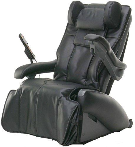 Elektrischer Massagesessel Family W1, Lederbezug, Fußstütze, schwarz