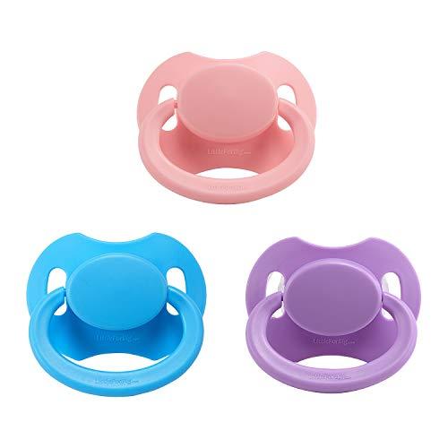 LittleForBig Bigshield Generation 2 Erwachsene Größe Schnuller Dummy für Erwachsene Baby ABDL-Rosa,Blau,Lila