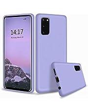 CRABOT Compatible con Huawei P40 Pro Silicona Líquida Caso Cubierta de Goma Anti-caída Resistente a Los Arañazos Carcasa del Teléfono+1*(Protector de Pantalla Gratuito)-Púrpura