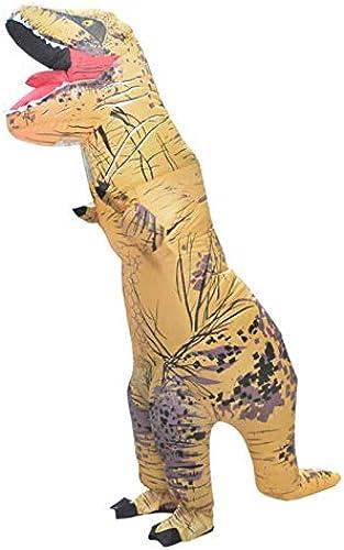 HXYL Adulte HalFaibleeen Habille Costume De Dinosaure, Masvoitureade Gonflable Costume Perforhommece Tyrannosaure,