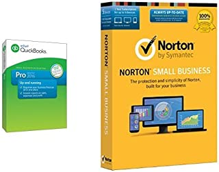 QuickBooks Pro 2016 Small Business Accounting Software with Free QuickBooks Online Essentials and Norton Small Business - 5 Device