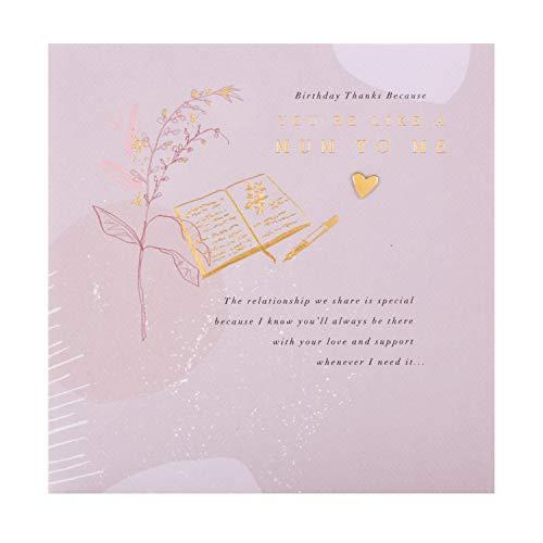 Zoals een moeder verjaardagskaart van keurmerk - modern design met hartvilten boodschap
