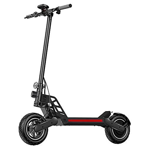 Hiboy Titan Patinete Eléctrico para Adultos 45 Km/h- Motor de 800 W, 48V 12,5 Ah, Alcance 45 Km, neumáticos de Aire de 25.4cm, Scooter eléctrico Plegable con Sistema de frenado Doble (Negro1)