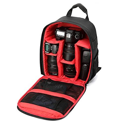 G-raphy Zaino per Fotocamera Professionale Zaino Macchina Fotografica Borsa Foto Impermeabile Porta Reflex Laptop Canon Nikon Treppiede Accessori (Rosso)