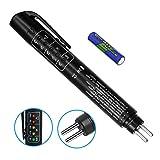 AOBETAK Bremsflüssigkeitstester Bremsflüssigkeitsprüfer Digital, Mini Brake Fluid Tester Prüfgerät Pen mit 5 LED-Anzeige, Bremsflüssigkeits Tester Profi für DOT3 DOT4