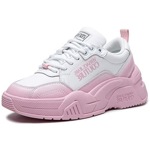VERSACE Jeans Couture E0VWASF4-71960 Zapatillas bajo Mujer Blanco/Rosa 36