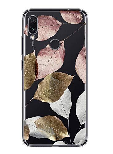 Suhctup Compatible con XiaomiMiMAX 3 Funda Flor de TPU Transparente Diseño de Flores Patrón Cárcasa Ultra Fina Suave con Dibujos Claro Silicona Antigolpes Proteccion Caso(A7)