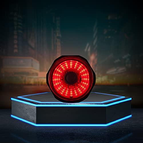 Luz Trasera con Sensor Inteligente para Bicicleta, luz de Advertencia de Seguridad de Carga USB, luz Trasera con Sensor de Freno Impermeable IPX6, para Bicicleta de Carretera MTB