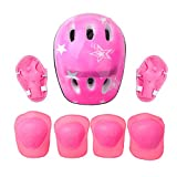 iiniim Casco de Protección Seguridad Mariquita Escarabajo para Niños Unisex Casco Infantil Mono Ajustable Dibujo Animado para Ciclismo Patinaje sobre Ruedas Bicicleta Rosa B One Size