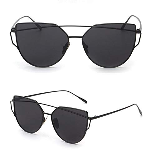 SUNNYJ Gafas de Sol con Ojo De Gato Gafas De Sol con Doble Haz Gafas de Sol De Panel Plano Love Punch Clear 7