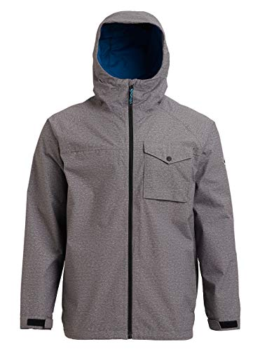 Burton Herren Portal Jacke, Gray Heather, XS