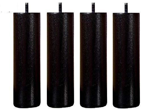 Wood Select Lot 4 Pieds de 35 cm Noir Tige M8 Standard pour Cadre Bois