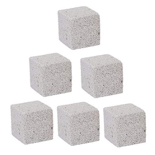 POPETPOP - 6 Piedras minerales para morder Calcio, para hámster, Rata, Chinchilla y Conejo, 5 cm