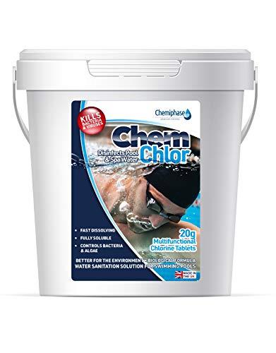 1 Kg Multifunctional Chlorine Tablets 20g - Swimming Pool, Hot Tub, Spa Chlorine