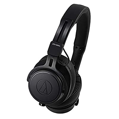 Audio-Technica ATH-M60X On-Ear Closed-Back Dynamic Professional Studio Monitor Headphones