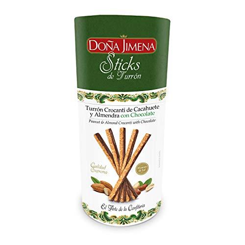 Doña Jimena Sticks Turrón Crocanti de Cacahuete y Almendra con Chocolate (Al Punto de Sal) 200 ml