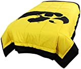 College Covers Iowa Hawkeyes 2 Sided Reversible Comforter, Twin