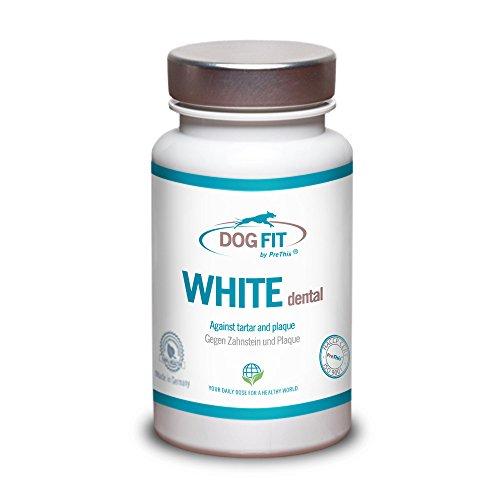DOG FIT by PreThis® White dental | Entfernt Hunde Zahnstein & Zahnbelag | Natürlicher Zahnsteinentferner | Zahnpflege & Mundhygiene