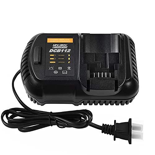 Replace for Dewalt 12V/20V Battery Charger DCB112 DCB101 DCB102 DCB105 DCB107 DCB115, Compatible with Dewalt 12V-20V Max Li-ion Battery DCB106 DCB120 DCB200 DCB201 DCB203 DCB205 DCB206 DCB207