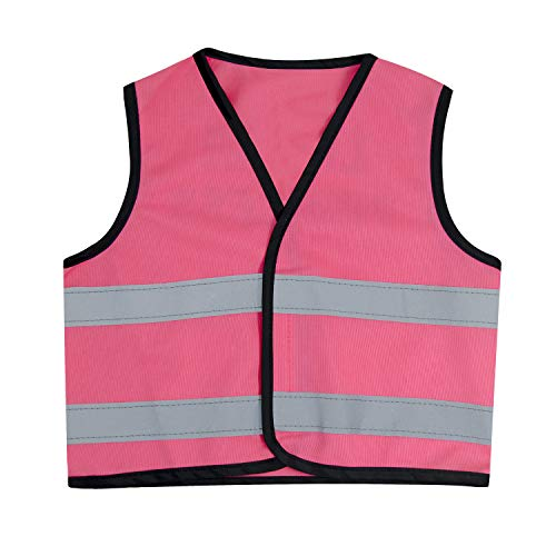 Safety Vest Bright multi color Breathable Reflective Kids Safety Vest Children Protective Clothing (Medium, PINK)