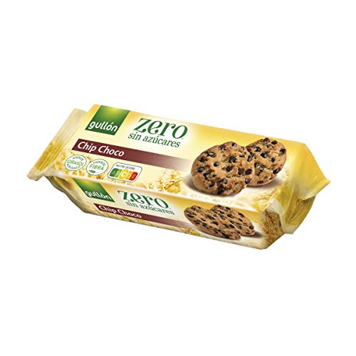 Gullón Galleta Chocolate Chips ZERO sin azúcares, 125 Gramos