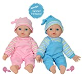 The New York Doll Collection - jumellee Bébé caucasien Doux Corps Vinyle Poupées 12 pouces / 30 cm - pour Âge 2 An et jusqu'à(Prime Sucette Inclus)