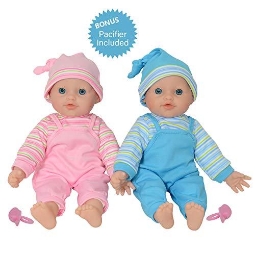 De New York pop Collection 30,5 cm Twin baby pop meisjes van vinyl voor kleine kinderen (30,5 cm kaukasische)