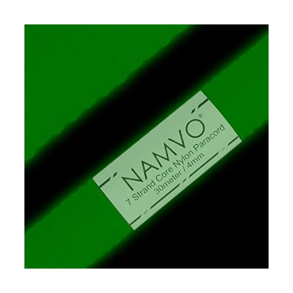 Namvo 550 Paracord Mil Spec Type III 7 strand parachute cord Total Length 100ft/30 Meters Reflective/Luminous