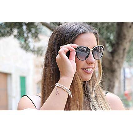 styleBREAKER occhiali da sole occhi di gatto a forma di farfalla con montatura in metallo e in plastica, cat eye, da donna 09020078