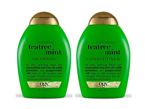 OGX Organix - SET Hydrating + Tea Tree Mint 1 x SHAMPOO + 1 x CONDITIONER