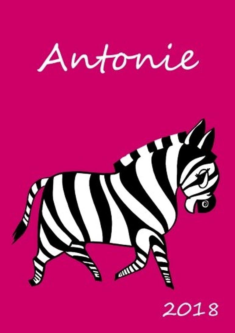 錆びスキニーお肉2018: personalisierter Kalender 2018 - Antonie - DIN A5 - eine Woche pro Doppelseite