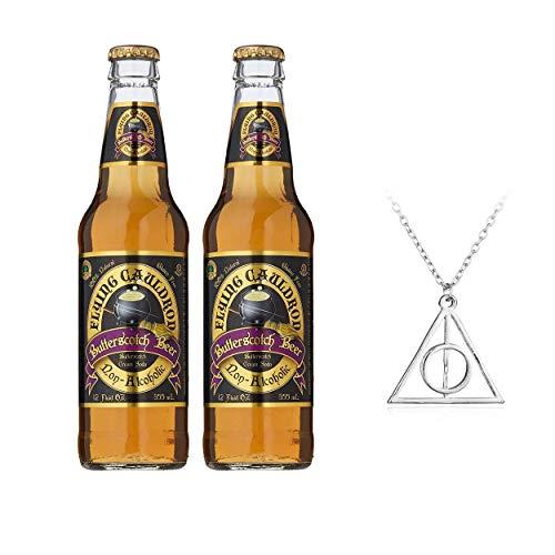 2 cervezas de caldero volador (no alcohólica) con collar gratis.