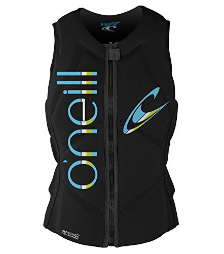 O'Neill Women's Slasher Comp Vest, Black/Black, 12