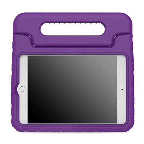 MoKo Case Fit iPad Mini 4 - Kids Shock Proof Convertible Handle Light Weight Super Protective Stand Cover Case Fit Apple iPad Mini 4 2015 Tablet, Purple