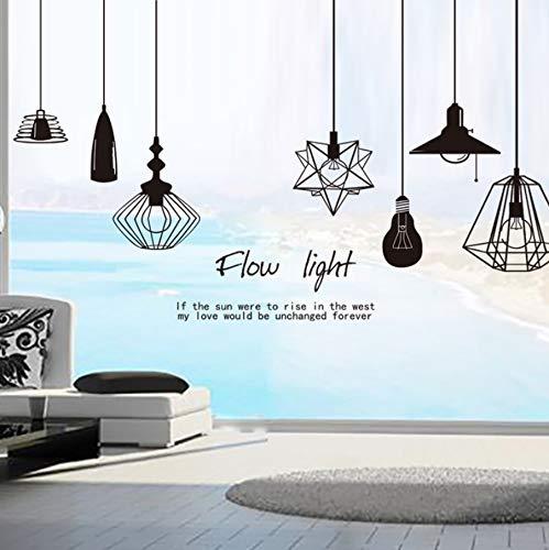 Zyzdsd Flow Light Chandelier Selbstklebende Wandaufkleber Für Schlafzimmer Wohnzimmer Kunst Wandtattoos Diy Wandbild Wallposter Home Decor