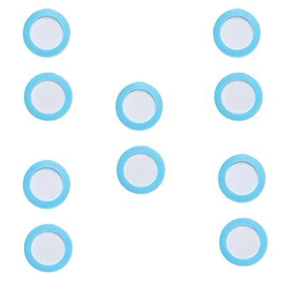 Non-brand 10 Pièces Dia. La Bulle en Céramique De Réacteur De Dioxyde De Carbone De Disque en Céramique De Diffuseur D'aquarium De 2cm / De 3cm Affinent La Tran