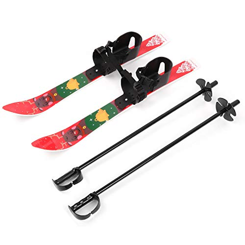 Odoland Kid's Beginner Snow Skis and Poles