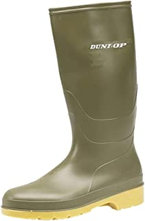 Dunlop Heava 'DULL' Youths wellingtons GREEN size