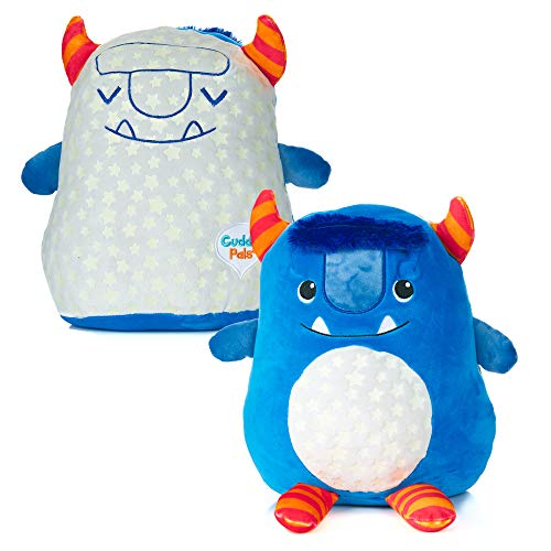 Cuddle Pal Double Sided Glow in The Dark Plush Toy, Titan The Monster Stuffed Animal Plush 11.5 inch