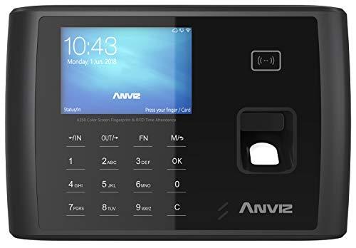 "Anviz A350 BT-Wifi Rilevazione presenze: Biometrico, Card Rfid e PIN, Linux, CPU 1 GHZ, Tcp/ip, WIFI, Bluetooth, Rs485, mini USB, LCD 3,5"" TFT, relè output, Wiegand Out, Web server, Pendrive inclusa."