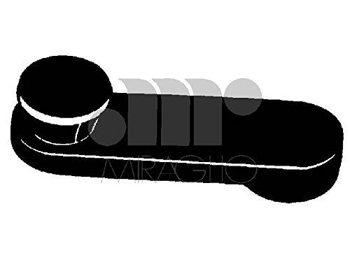 MANIGLIE ALZACRISTALLO Maniglia in plastica marrone Per FIAT Y 10