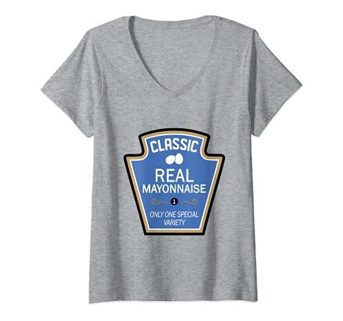 Mujer Mayo Condiment - Camiseta de disfraces de Halloween para parejas y grupos Camiseta Cuello V
